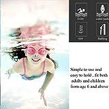 KINDPMA 10 Stück Schwimmen Nase Clip Nasenklammer Kinder Wasserdicht Nasenklemme Tauchen Nasenclip Silikon Nasenschutz Nasenstöpsel Schwimmen Nasenklammernfür Kinder Erwachsene Schwimmtraining - 2