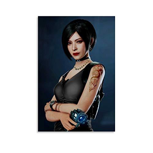 Ada Wong Remake Video Game Art Leinwand Kunst Poster und Wandkunst Bilddruck Moderne Familienzimmer Dekor Poster 12x18inch(30x45cm)