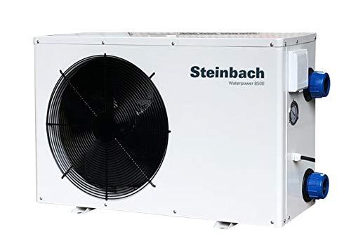 Steinbach Wärmepumpe Waterpower 8500, R32, Heizleistung 8,5 kW, Kühlleistung 6,0 kW, Anschluss 230 V / 1,45 kW, Schallleistung dB(a) 50, Wasseranschluss Ø 50 mm, Titan Wärmetauscher, 049207