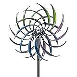 Misis Spinners de Viento para jardín - Adornos de jardín de Hierro al Aire Libre - Gordo de Viento Giratorio - estaca de Tierra Estable Upgrade