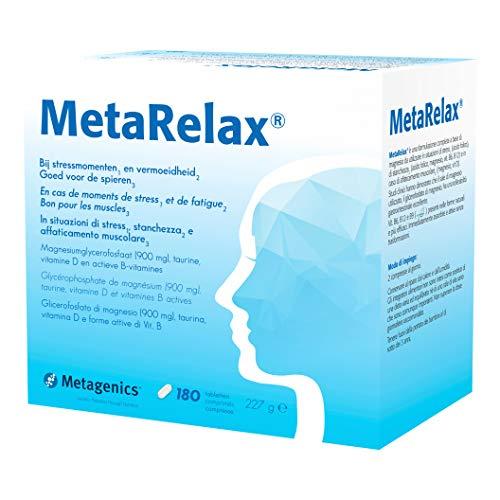 Metagenics Integratore Alimentare Metarelax, 180 Compresse