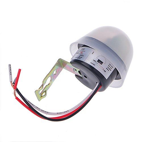 MINGSTORE Interruptor de luz de Calle de fotocélula de Encendido automático automático Interruptor de Sensor DC AC 220V 10A