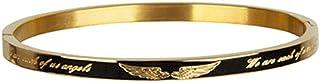 Meeshine Bangle Bracelet for Women,Stainless Steel Friendship Bracelet, 6.8'' Gold Plated Oval Bracelet for Birthday Chris...