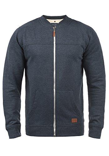 Blend Arco Herren Sweatjacke Collegejacke Cardigan Jacke Mit Kurzem Stehkragen, Größe:XL, Farbe:Navy (70230)