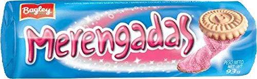 Bagley Merengadas Galletas Dulces con relleno Sabor Frutilla 3 Pack/total de 279 grs