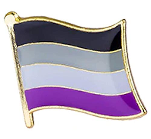 Asexual Pin 1 Inch Gold Plating Metal Alloy Butterfly Backing