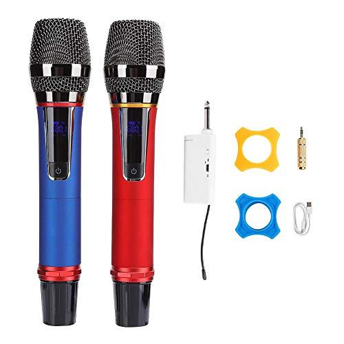 Micrófono inalámbrico dinámico de mano, micrófono inalámbrico con receptor inalámbrico, sistema de...