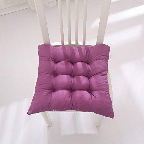 GLITZFAS Set da 4 Cuscino Sedia,Cuscini per Giardino, per Dentro e/o Fuori,40x40 cm,Disponibile in Tanti Colori Diversi,Cuscini per sedie da Giardino,Copri Sedia Cucina (Porpora)