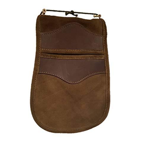 CAZA Y AVENTURA Una Bolsa de Ojeo-Bolsa portacartuchos en Serraje, para Llevar en el cinturón.para 50 Cartuchos