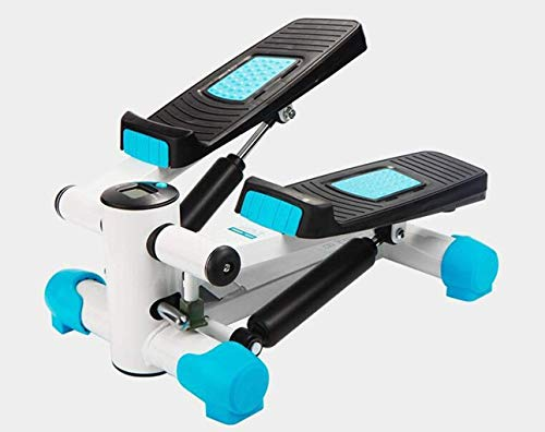 AUKLM Stepper,Stair Stepper Exercise Stepper Machine Sunny Health Fitness Mini Stepper Fitness Twist Stepper Step Machine Exercise Equipment with Resistance Bands (Color : Blue, Size : One Size)