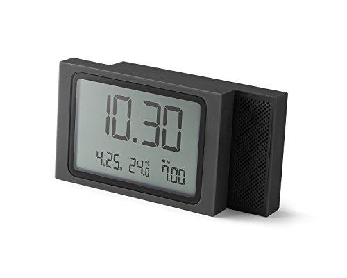 Lexon SLIDE Clock Wecker, Farbe dunkelgrau
