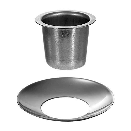 Kerzenhalter konisch Silber 22mm - Tülle und Tropfenfänger einzeln oder im Set, Größe:Tülle + Fänger 4er Set