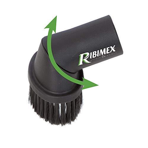 Ribimex PRCEN000/SPL Spazzola Orientabile per Pulizia Stufe a Pellet con setole in Nylon