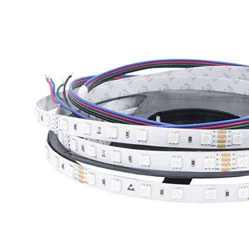 iluminize LED-Streifen RGB: sehr hochwertiger LED-Streifen RGB Ambiente mit 60 LEDs pro Meter, hoch selektiert, 24V, 14,4W pro Meter, 5 m auf Rolle (24V 60 LEDs/m IP65NANO)