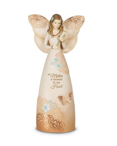 Pavilion Gift Company 19043 Light Your Way Memorial Mother Angel Figurine, 9-Inch