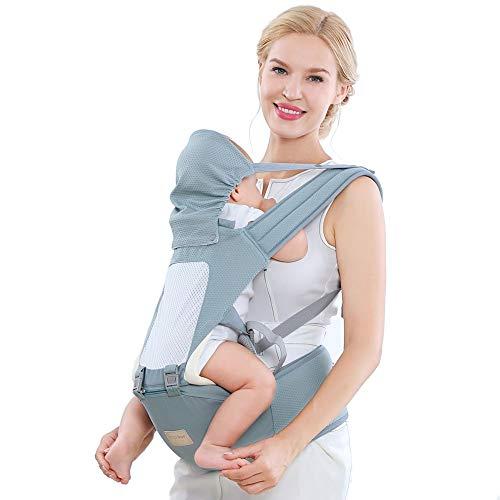 Dr.Taylor Sling de Baby Wrap, Transpirable Ergonómico Recién Nacido Baby Slings Portador, con Cubierta de Cabeza Removible y Asiento de Cadera, Mochila Canguro,Rosado