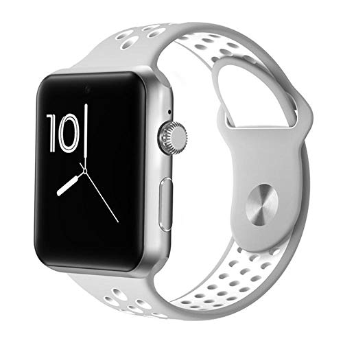 GAFAGAFA fitnessuhr Herren Bluetooth Smart Watch Männer Sport Schrittzähler Fitness ArmbandSchlaf Monitore Voll-Touchscreen SIM Karte Anruf Kamera Smart Armband Grau