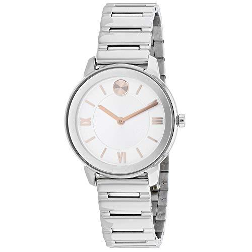 Movado 3600590 - Reloj de Pulsera para Mujer (Esfera Plateada), Color Blanco