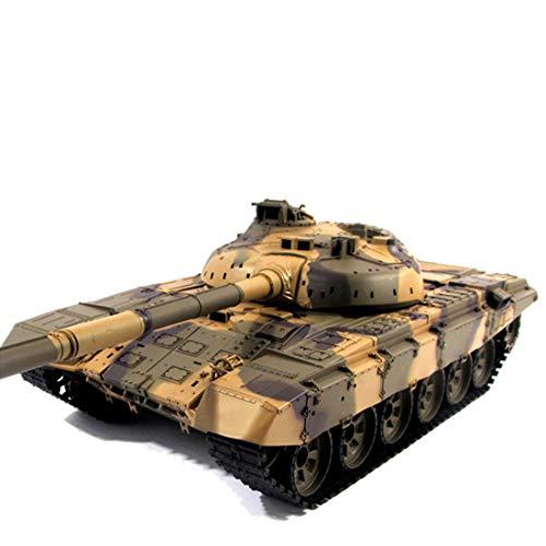 SESAY Tanque teledirigido 1:16 2.4GHz RC Militar WWW2 Russian T90 Tanque con función de disparo, efecto de sonido, luz y efecto humo, juguete teledirigido para niños y adultos