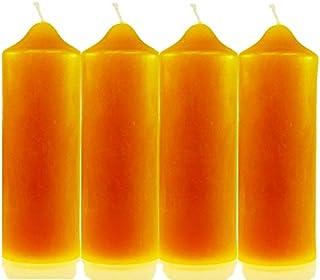 4 Stk. Kerzenstumpen 160/55mm 100% Bienenwachs Bienenwachskerze Stumpen