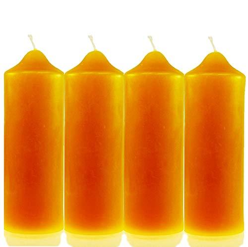 4 Stk. Kerzenstumpen (160/55mm) 100% Bienenwachs Bienenwachskerze Stumpen