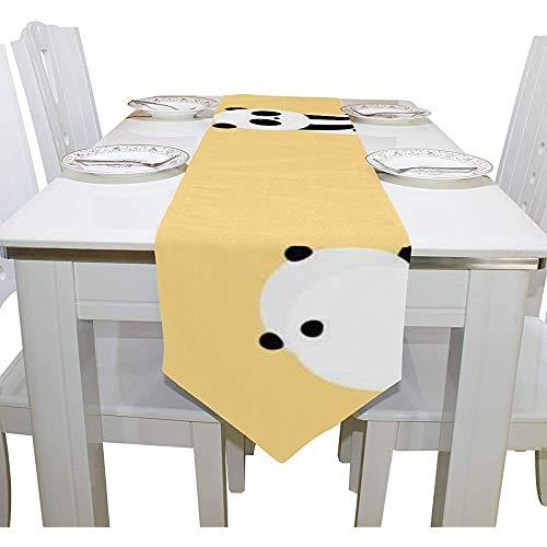 sunnee-shop Chinees schattige kleine panda voor kinderen bedrukte tafelloper voor decoratie buitenshuis bruiloft tafelkleden tafelkleden 13X90IN