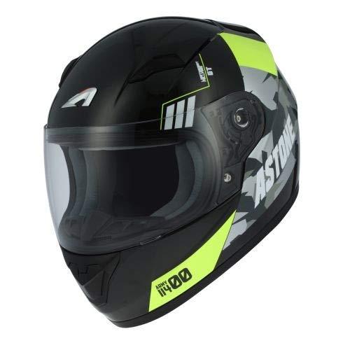 Astone Helmets gt2kg-army-byxl Motorradhelm GT Kid, Schwarz/Gelb, Größe XL