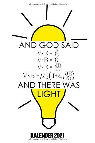 Kalender 2021: Terminkalender Physik Motiv als lustiges Geschenk für Physikerin und Physiker Jahreskalender 2021 A5 1 Woche 2 Seiten / 6x9 Zoll 120 ... Physik Fans Beruf Studium Schule und Familie
