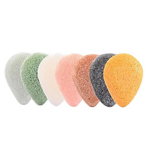 Hainice 7 unids Konjac Esponja Facial Exfoliadora Esponja Cara Natural Esponja de Limpieza Profunda para la eliminación de Maquillaje
