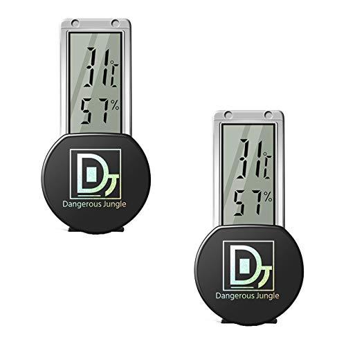 フェリモア 爬虫類 両生類 温度計 湿度計 防水 液晶 吸盤 デジタル サーモメーター 温湿度計 (2個セット)