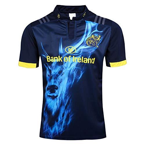 2017 Münster City Home and Away Rugby Jersey, Short Sleeve Schnell trocknend Sport-beiläufiges Top Trainings-T-Shirt, für Damen/Erwachsene oder EIN Geburtstags-Ges Away-XL