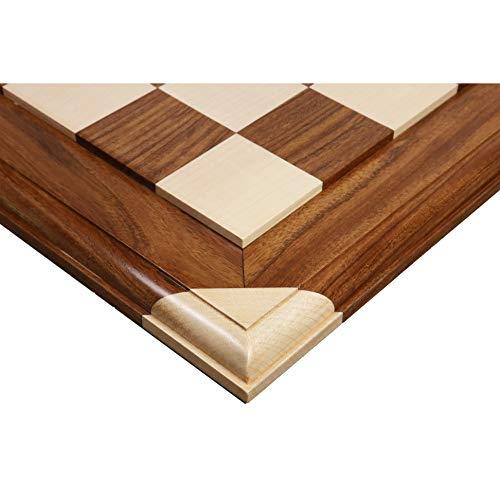 Royal Chess Mall - Tablero de ajedrez de lujo de madera de palisandro y arce de 55 mm cuadrado