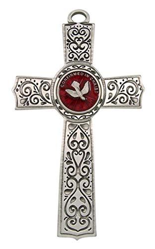Needzo Confirmation Holy Spirit Dove Wall Cross Keepsake, 5 3/4 Inch