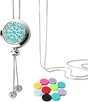 GoorDik Essential Diffuser Necklace Aromatherapy Stainless Steel Locket