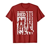 Red Friday Military Shirt On Friday We Wear Red Veteran Gift T-Shirt