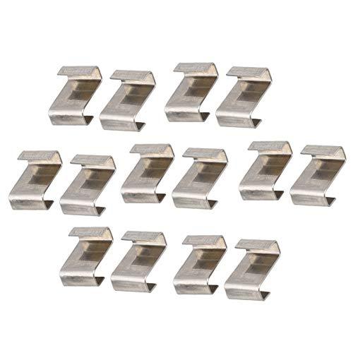 Gewächshaus Klammern Edelstahl 30 Stück Gewächshausclips,Rostfrei Edelstahl Glasklemmen für Gewächshaus,Gewächshausklammern für Gewächshaus & Glashaus Hohlkammerstegplatten,12mm* 9mm