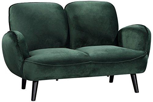 Atlantic Home Collection BEN, 2-Sitzer Sofa, Samt, grün
