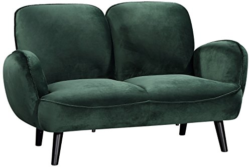 Atlantic Home Collection BEN, 2-Sitzer Sofa, Samt, grün