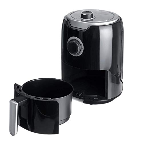 PLEASUR Freidora de Aire 2L, Control de Temperatura con Temporizador, freidora de Aire eléctrica para el hogar, Utensilios de Cocina saludables para cocinar