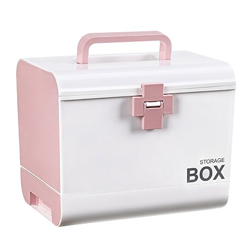 Mizii Medizin-Box Große Kunststoff-Hausapotheke Mehrzweck-Erste-Hilfe-Kasten Mit Schubladen Tragbare Notaufnahme Für Den Einstieg...