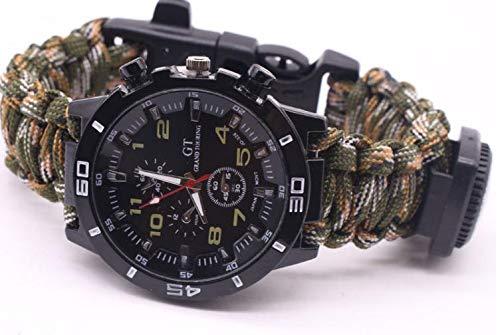 Montre de survie montre de survie 16 po en 1 bracelet universel Paracord pour randonnée outdoor randonnée pédestre randonnée aventure