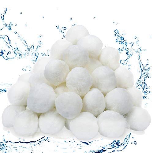 wolketon Filterballs 700g Filter Balls für Sandfilteranlagen Ersetzen 25 kg Filtersand für Pool Sandfilter, Schwimmbad, Filterpumpe