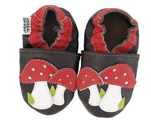 HOBEA-Germany Chaussures bébé Fille, modèle Chaussures:Champignons, Chaussures de Taille:22/23 (18-24 Monate)