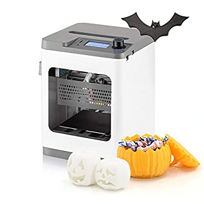 Weedo Portable 3D Printer,Auto Calibration 3D Printer, WiFi Control,Fully Assembled for PLA+Free Micro TF Card Portable 12V Home Use 3D Printer