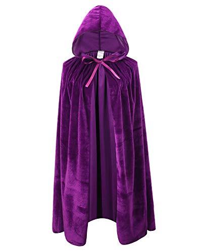 Kids Velvet Cape Cloak With Hood Unisex-Child Cosplay Halloween...