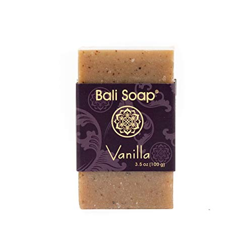 Bali Soap - Vanilla Pack of 3, Natural Soap Bar, Face or Body Soap Best for All Skin Types, For Women, Men & Teens, 3.5 Oz each