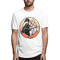 Qoyaun Sword Art Online Men's T-Shirt Adult Short Sleeve T-Shirt for Men,XX-Large
