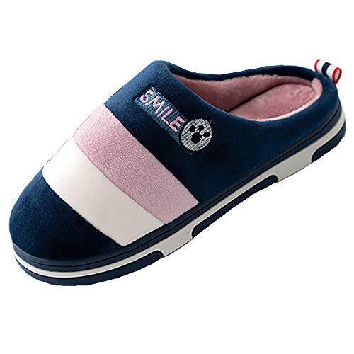 Zapatillas de Casa Mujer Hombre Invierno Pantuflas Algodon Peluche Zapatos Caliente...