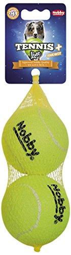 Nobby Tennisball mit Squeaker L 8,5 cm; 2er Netz