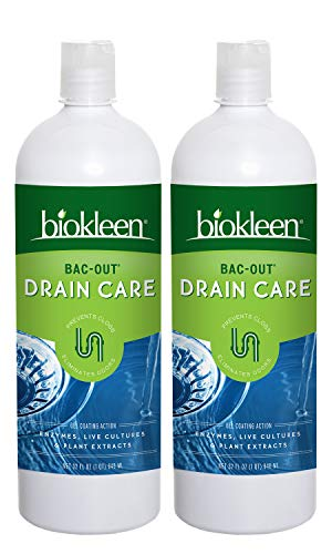 Biokleen Bac-Out Enzyme Drain Cleaner - 32 Ounce (2 Pack) - Prevents Clogs, Eco-Friendly, Non-Toxic, Live Enzyme-Producing Cultures and Plant Extracts, No Artificial Fragrance or Preservatives